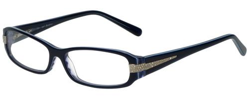 Calabria Designer Eyeglasses 847 Blue :: Progressive