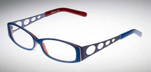 Calabria Designer Eyeglasses 808 Blue :: Rx Bi-Focal