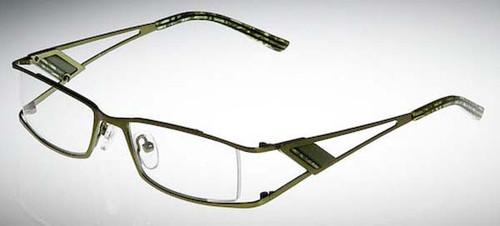 Calabria Designer Eyeglasses 813 Green :: Rx Bi-Focal
