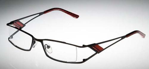 Calabria Designer Eyeglasses 813 Red :: Rx Bi-Focal