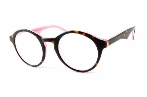 Calabria Designer Eyeglasses 850 Tort Pink :: Rx Bi-Focal