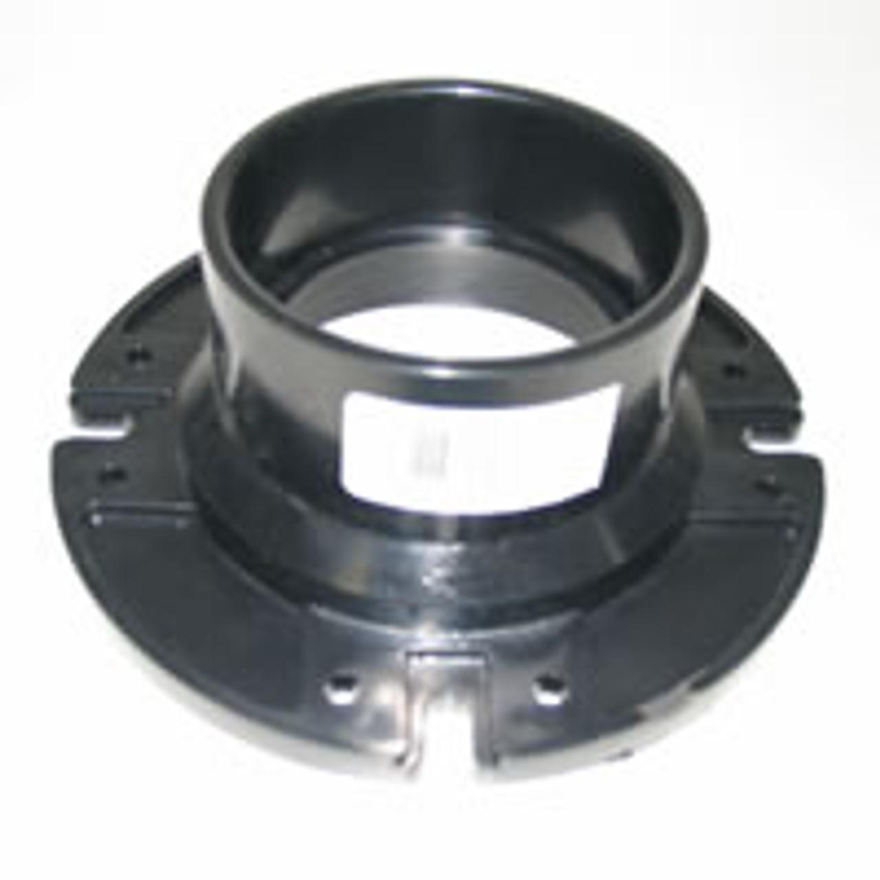 """Toilet floor mounting flange. 3"""" PVC pipe socket. (3"""" pvc pipe slips inside flange)"""