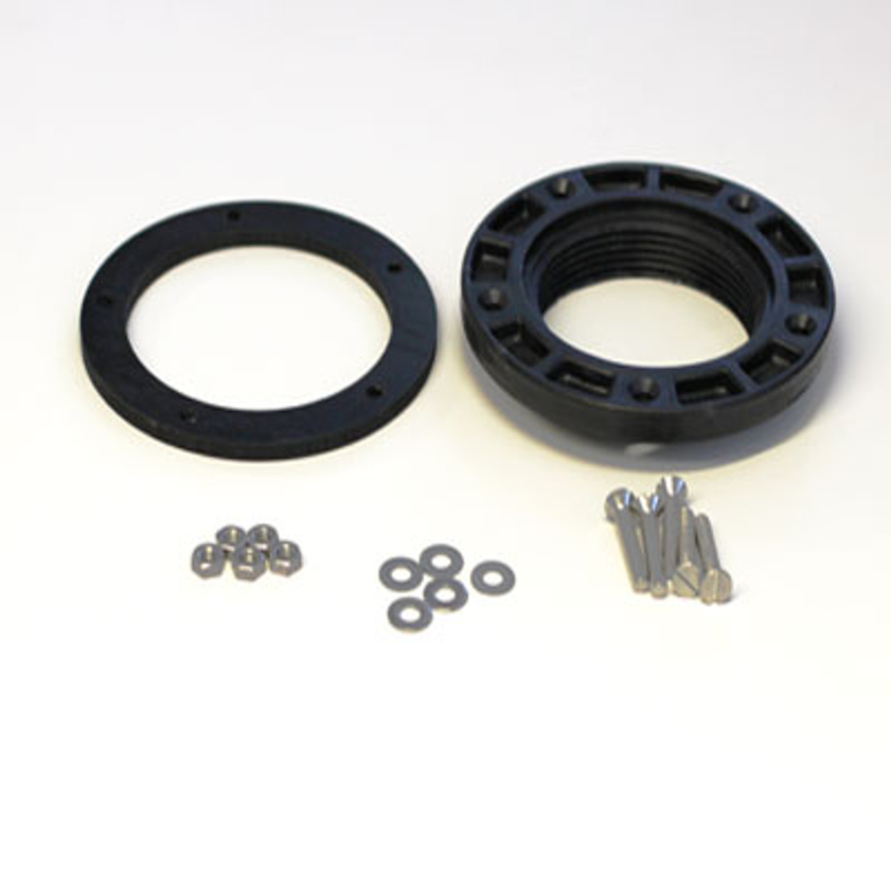 """This universal holding Tank Flange Kit will make it possible to install a tank guage in a tank that does not have the common 3"""" female fitting already installed. It comes with a gasket and mounting hardware."""