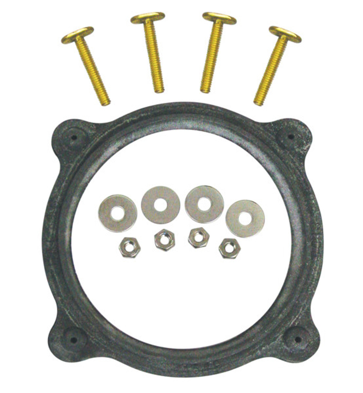 This floor flange kit contains the floor flange seal and hardware.