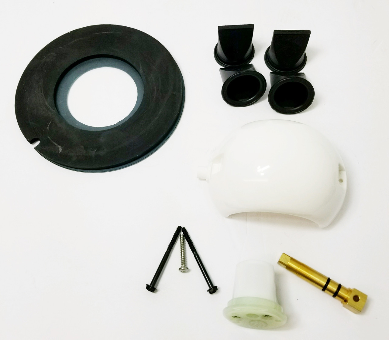 "Kit contains 1- bowl seal # 385311462 1- ball, shaft and cartridge #385318162 4- 1 1/2"" duck bill valves #600347802"