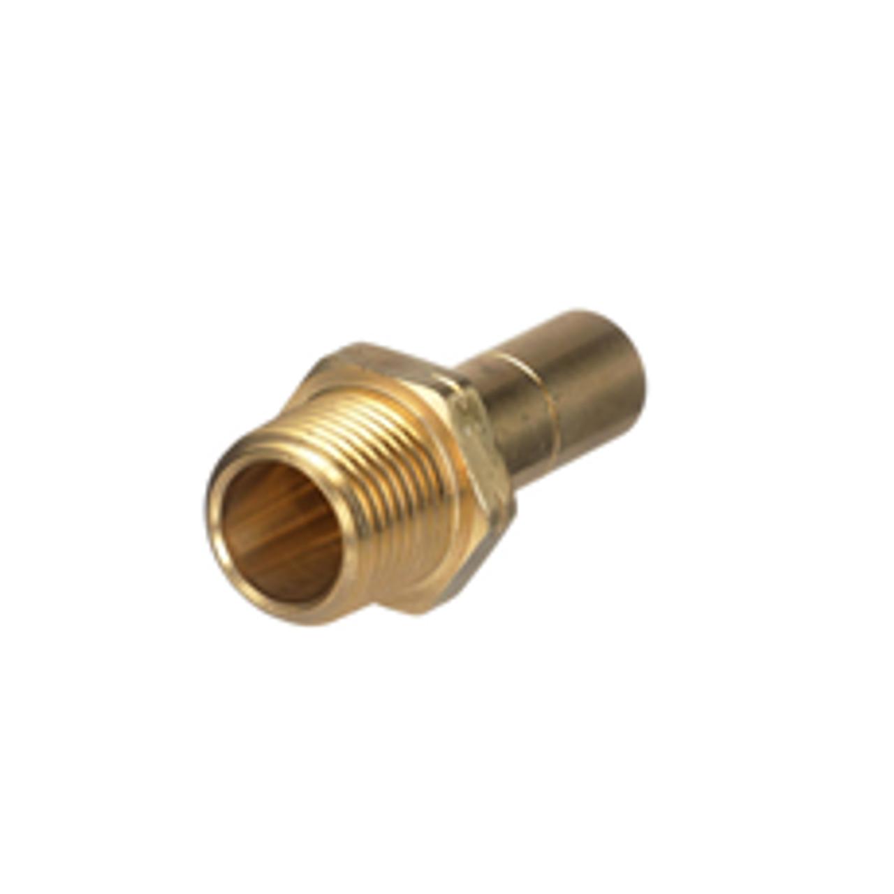 "15mm x ½"" MPT Brass stem adapter 1229-0815"