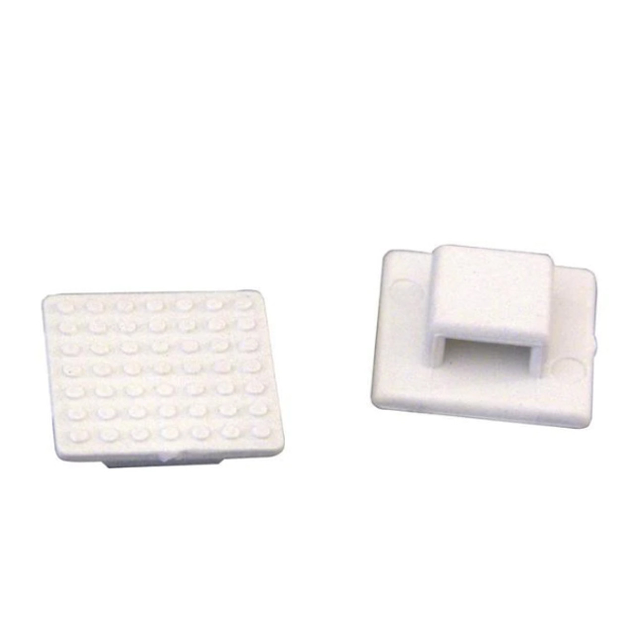 (803900) Small White Tie Mount -  pack of 10