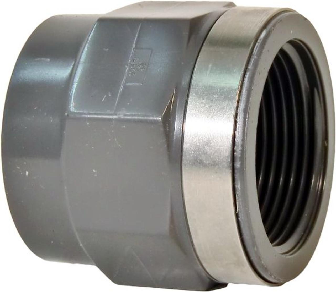 "+GF+ | F Adapter SxT SS Reinforced PVC-U 20mm-1/2"" (721910206)"