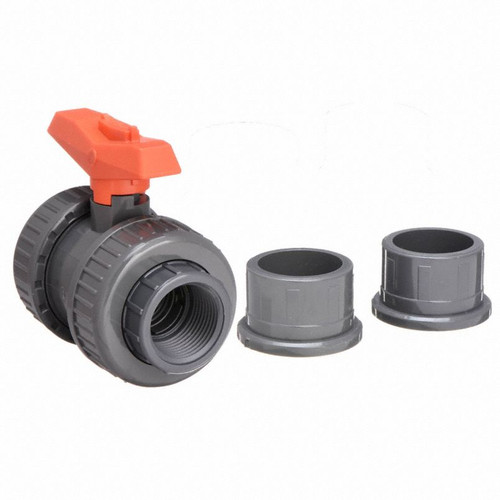 "1-1/2"" - 375 Ball Valve Socket/Threaded NPT PVC/EPDM (161375006)"