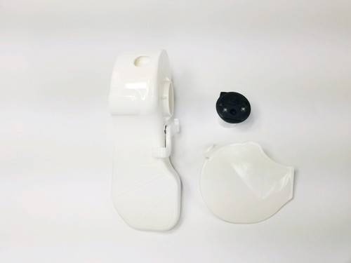 This pedal kit fits toilets that do not have have a metal flush lever. It also includes a new spring cartridge
