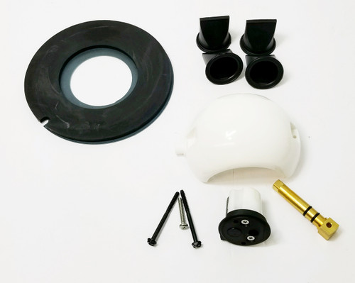 "This kit can be used with all ""S"" series pumps and Toilets with Reinforced Plastic flush levers. It comes with a Spring Cartridge With a Black Cover (white cartridge shown)"