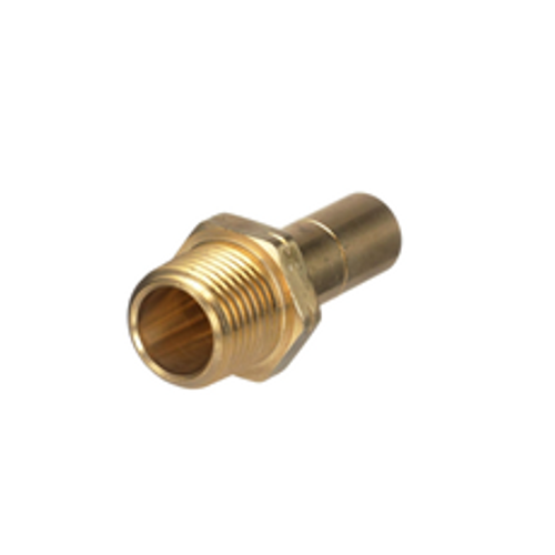 "15mm x ½"" NPT Brass Stem Adapter 1229-0815"