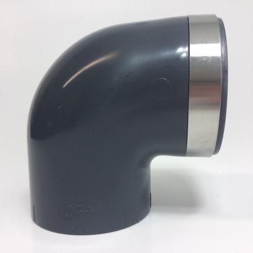 "+GF+ | L 90 SxT SS Reinforced PVC-U  50mm-11/2"" (721100210)"