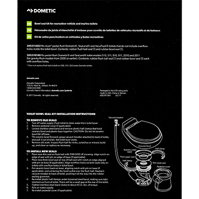 Troubleshooting Your Dometic VacuFlush/Gravity Toilet Bowl Seals