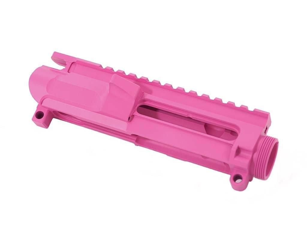Pink Cerakoted Billet AR-15 Upper Receiver