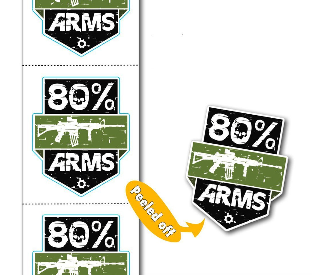 80% Arms Stickers