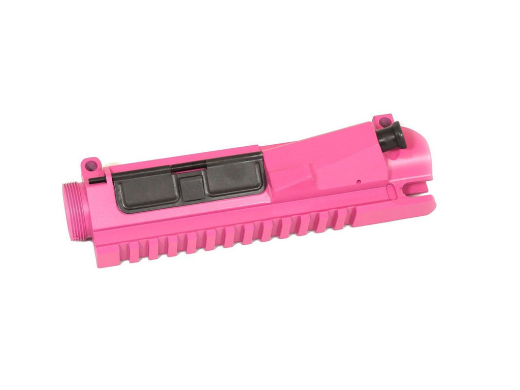 Pink Cerakoted Billet AR-15 Upper Receiver with Forward Assist and Dust Cover