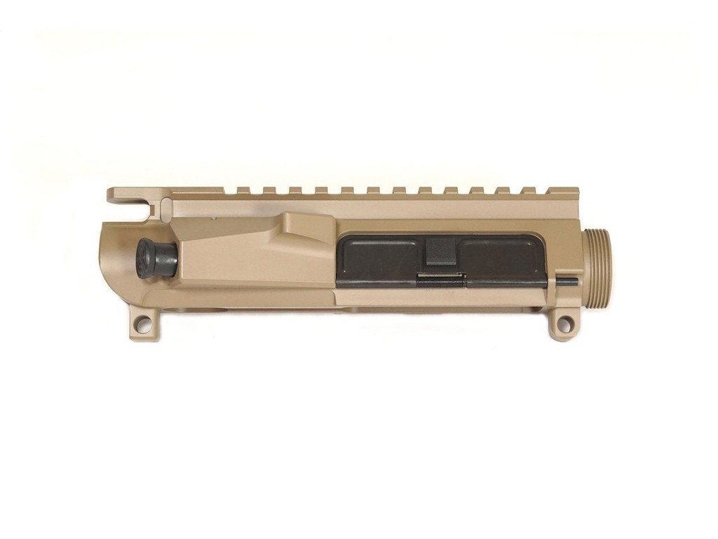 FDE Cerakoted Billet AR-15 Upper Receiver with Forward Assist and Dust Cover