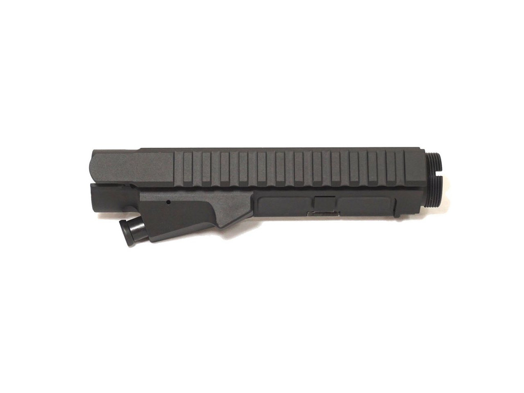 Black Billet AR-15 Upper Receiver with Forward Assist and Dust Cover