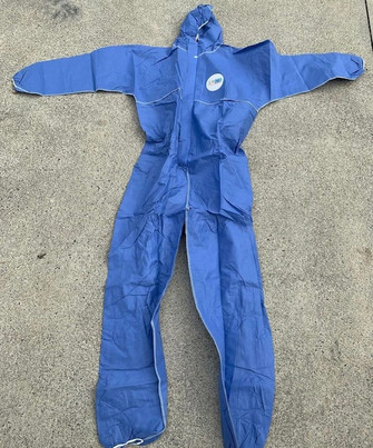 RMCS BLUE Disposable SMS Coveralls Type 5 Type 6