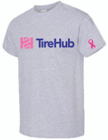 TireHub Breast Cancer Support Heavy Cotton Tee Shirt - Assorted Colors