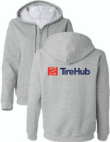 TireHub Full Zip Hooded Ladies Sweatshirt  - Assorted Colors