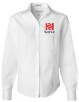 TireHub Long Sleeve Ladies Non-Iron Pinpoint Oxford Shirt