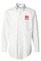 TireHub Long Sleeve Non-Iron Pinpoint Oxford Shirt