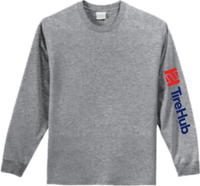 TireHub Cotton Long Sleeve Tee Shirt TALL SIZES - Assorted Colors
