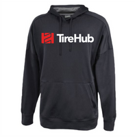 CLEARANCE TireHub Pennant Flex Midweight Hooded Pullover - Large Black