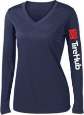 TireHub Ladies PosiCharge Competitor Performance Long Sleeve Tee - Assorted Colors