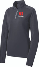 TireHub Sport-Wick Textured 1/4-Zip Ladies Pullover - Assorted Colors