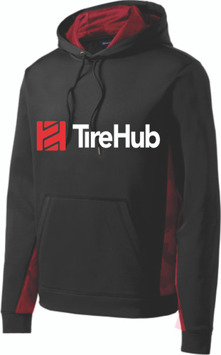 TireHub Sport-Wick CamoHex Fleece Colorblock Hooded Pullover - Assorted Colors