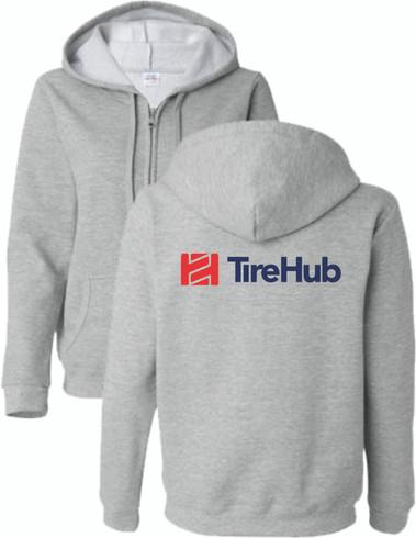 TireHub Full Zip Hooded Ladies Sweatshirt  - Assorted Colors