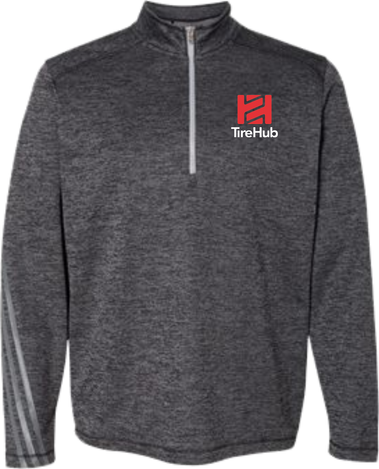 TireHub Brushed Terry Heather Quarter-Zip Pullover - Assorted Colors