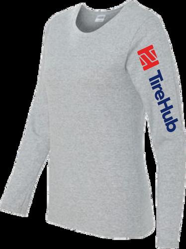 TireHub Ladies Cotton Long Sleeve Tee Shirt - Assorted Colors