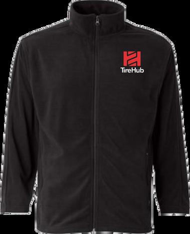 Clearance Microfleece Full-Zip Jacket - Black