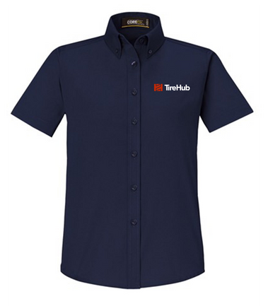 TireHub Core 365 Ladies' Optimum Short-Sleeve Twill Shirt