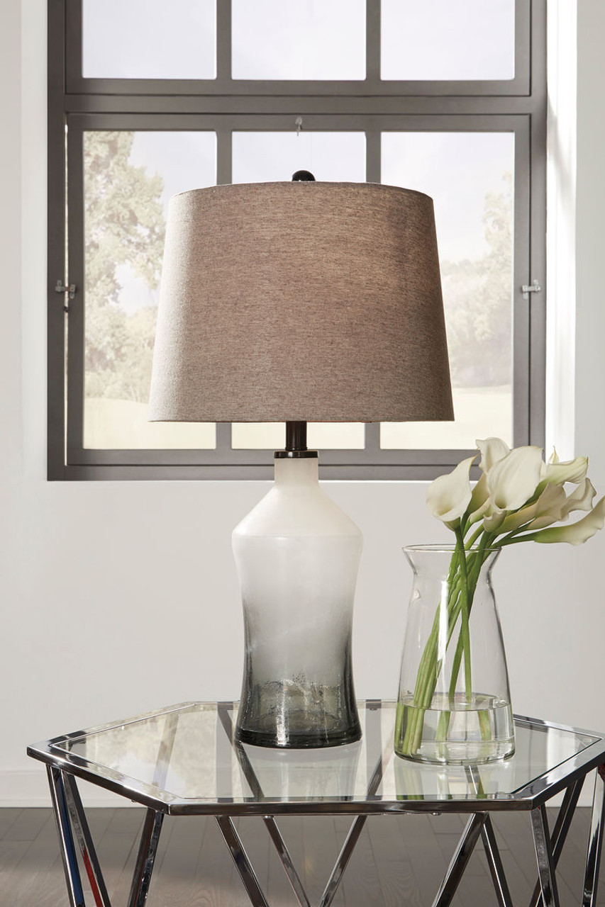 The Nollie Gray Glass Table Lamp Available At Girard S Ace