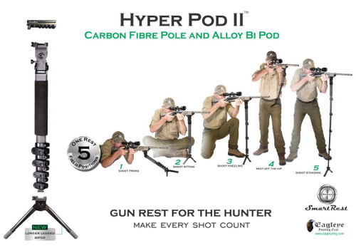 SmartRest - Hyper Pod II - Mono/ Bipod Hybrid Position Chart
