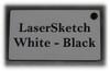 """White-Black: Front surface White, Engravable Letters Black, 24"""" x 12"""" x 1/16"""""""