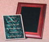 """PM-68DGM, Over all Size, 9"""" x 11"""", Recessed Size, 6"""" x 8"""" x 5/16"""", w/Dark Green Marble Plaque"""