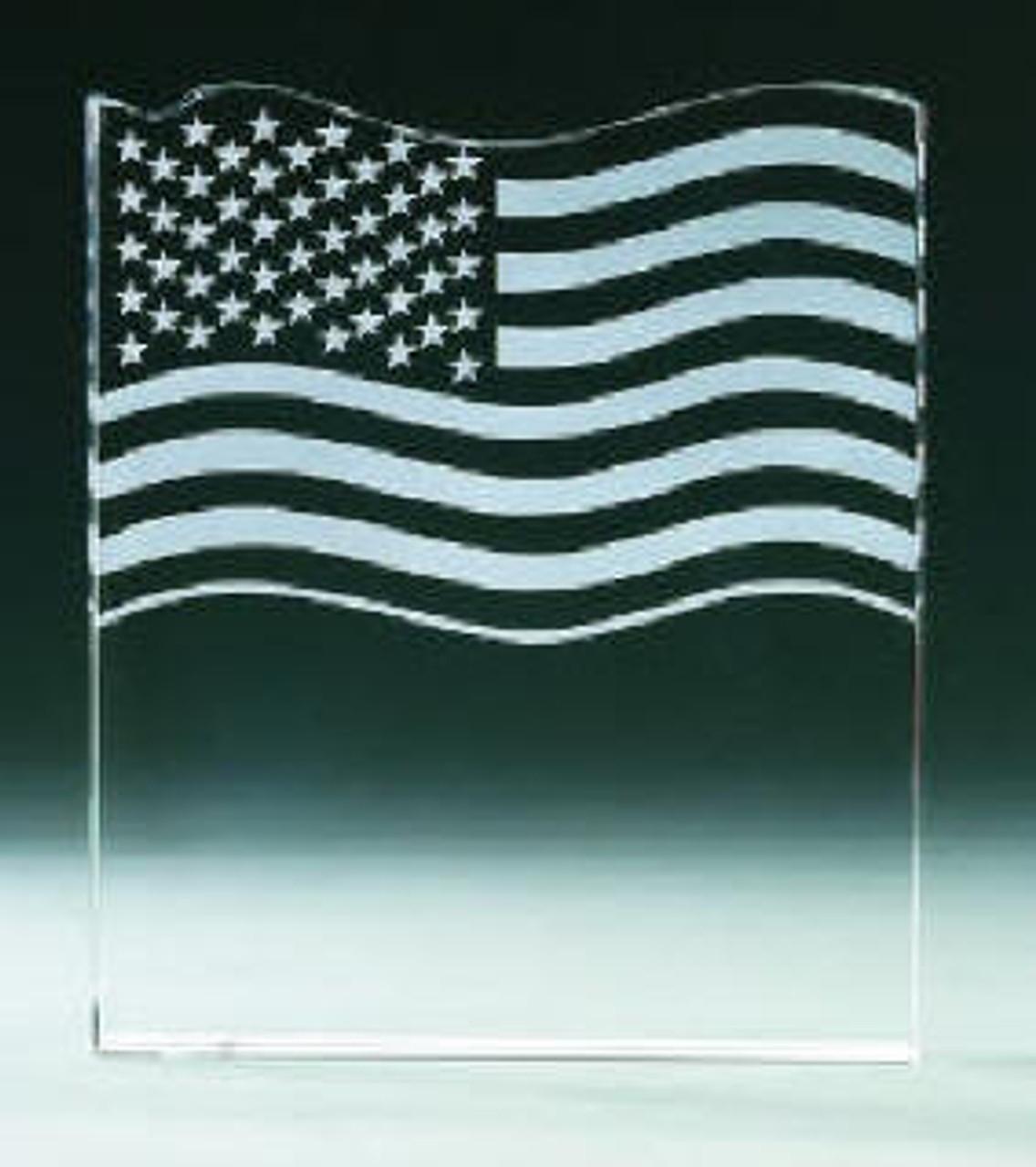 USA Flag Award w/Prestation Box