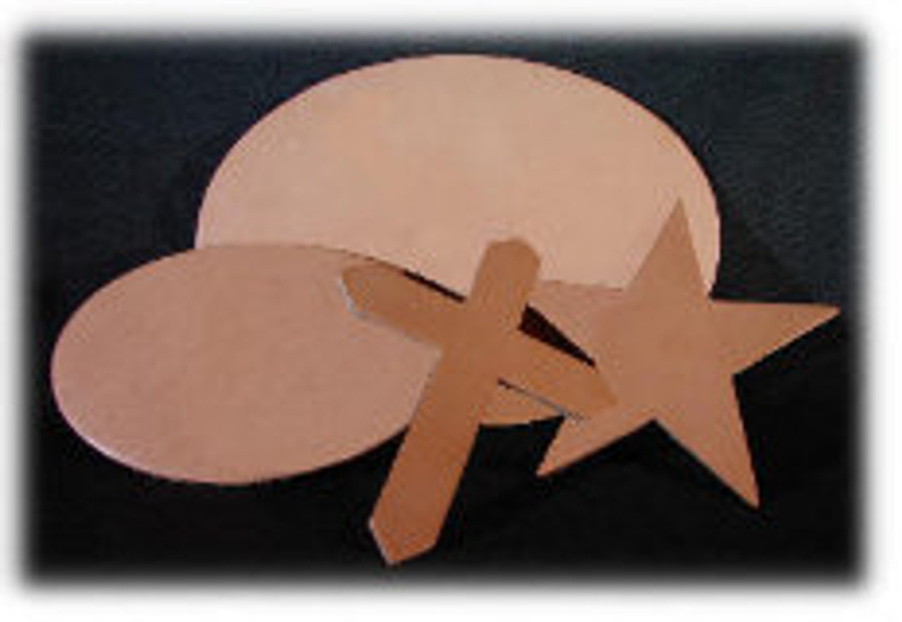 Natural Leather Star, 4-1/4 inch x 4-1/4 inch