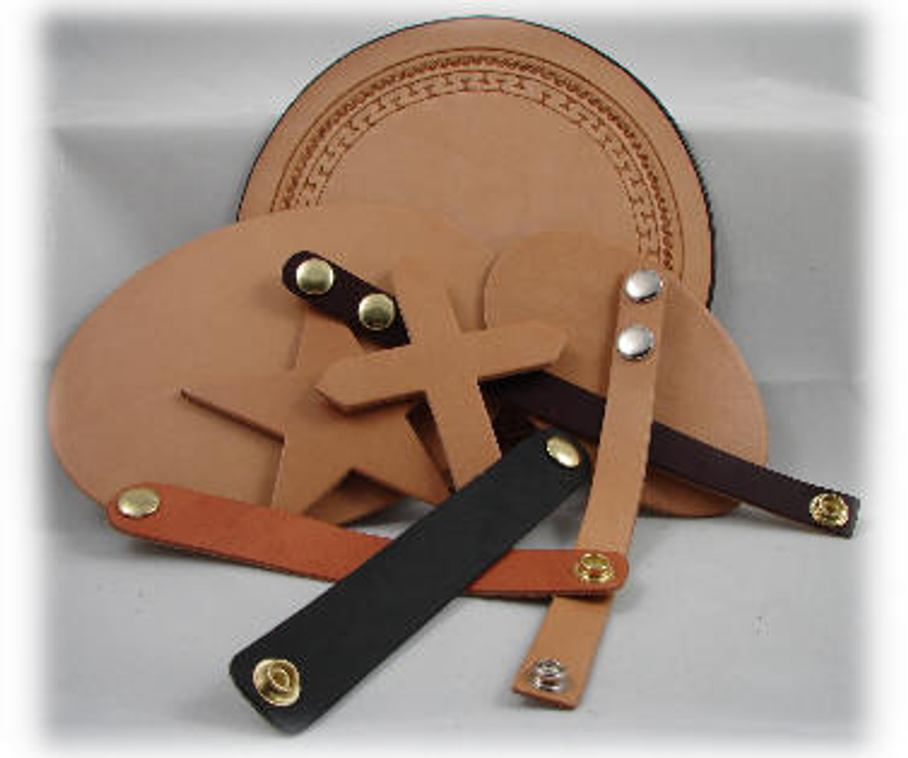 Rich Tan Leather Wrist Band, 1-1/2 inch Wide x 8-1/2 inch long