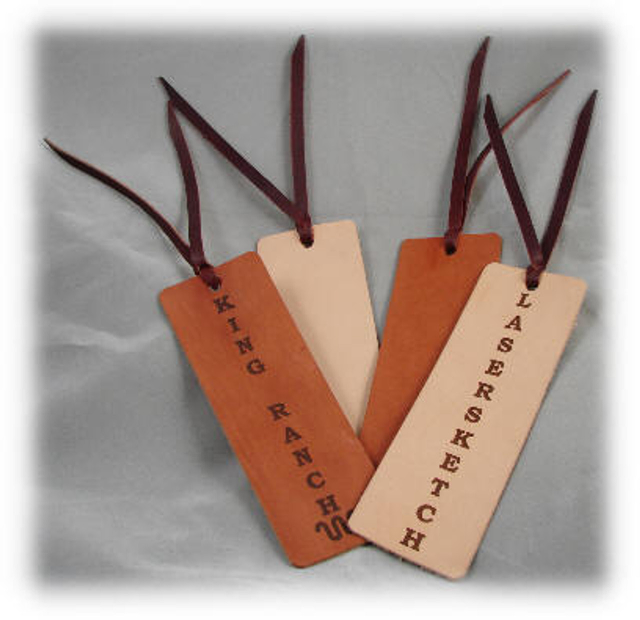 Rich Tan Leather Book Marker
