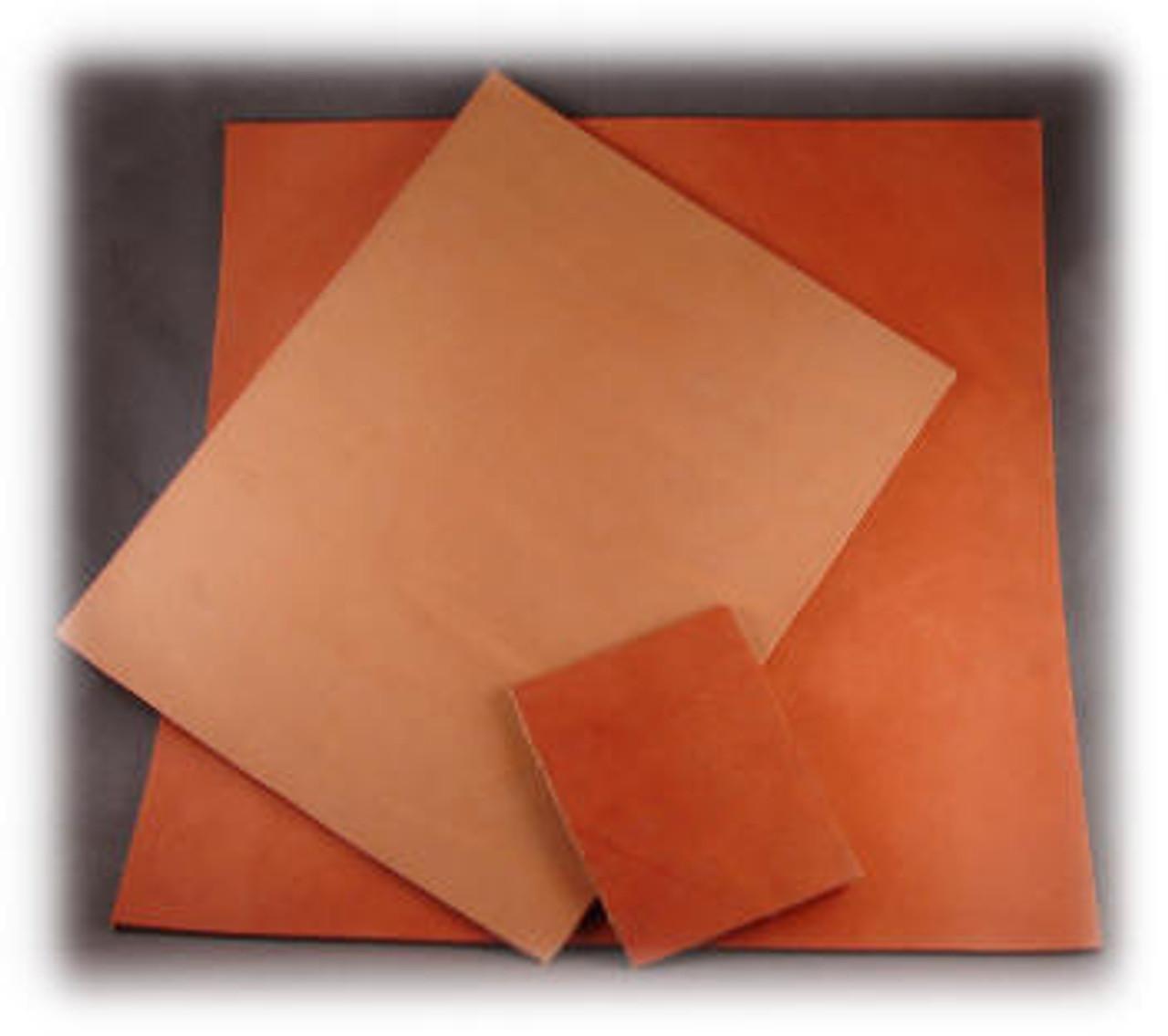 "Rich Tan Leather Blank, 12"" x 12"" x 1/8"""