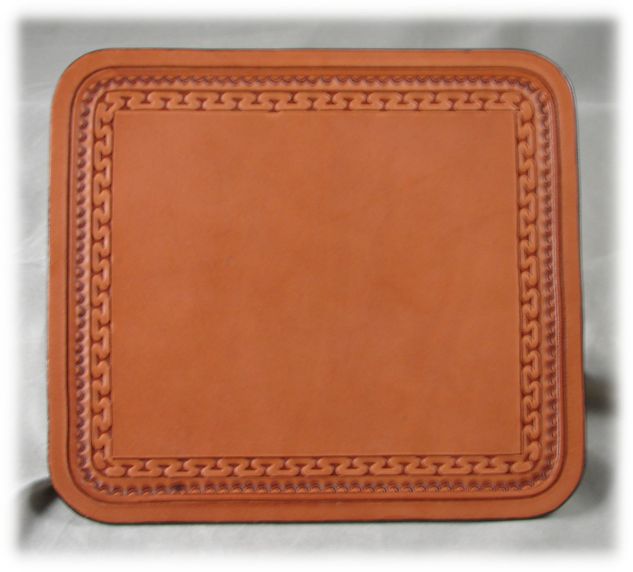 Rich Tan Leather Mouse Pad