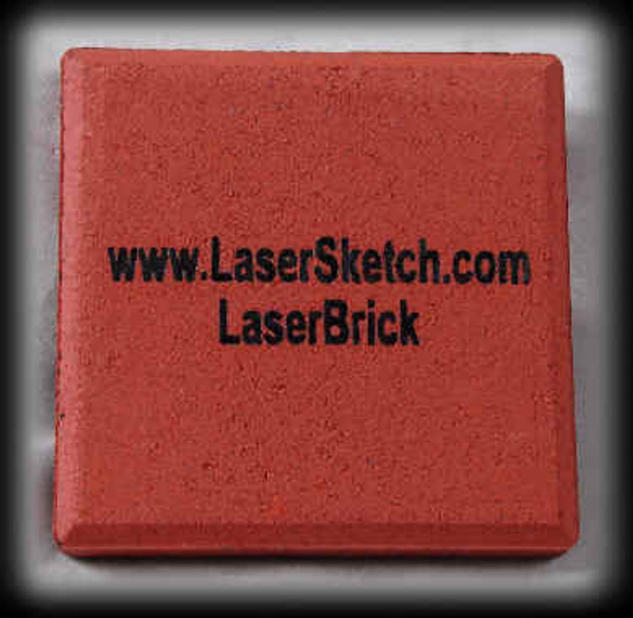 "LaserBrick, 3"" x 3"" x 1/2"" - 50 Count"