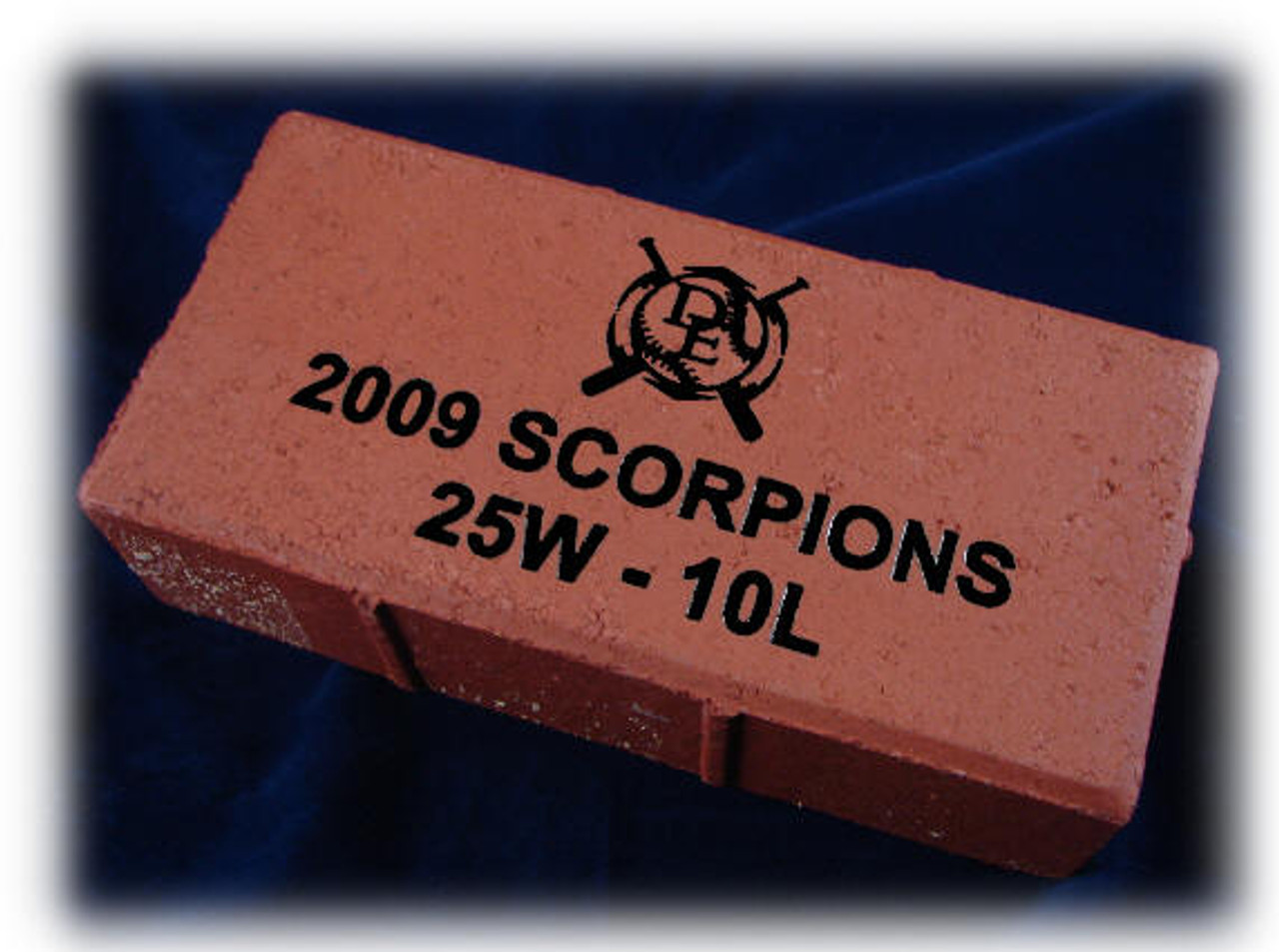 4 x 8 x br 2-1/4 , LaserGrade Red Street Paver Brick, Smooth Surface with 1/4 Beveled Top Surface and Lugs on Sides.